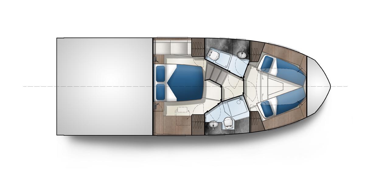 Galeon 410 HTC plan de pont 2