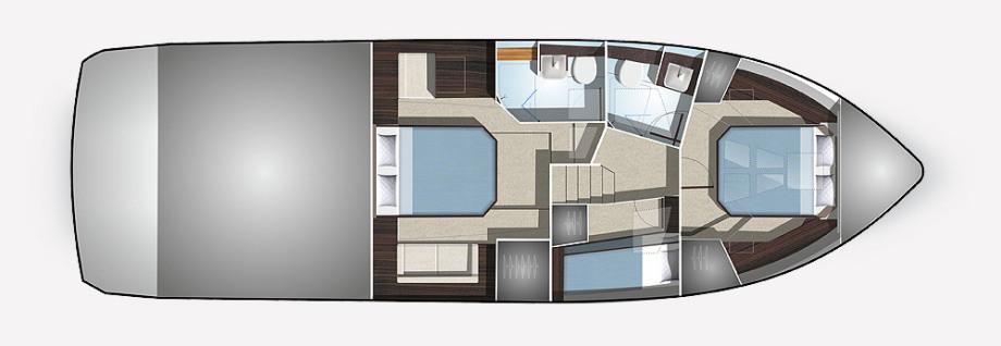 Galeon 460 FLY plan de pont deck 2