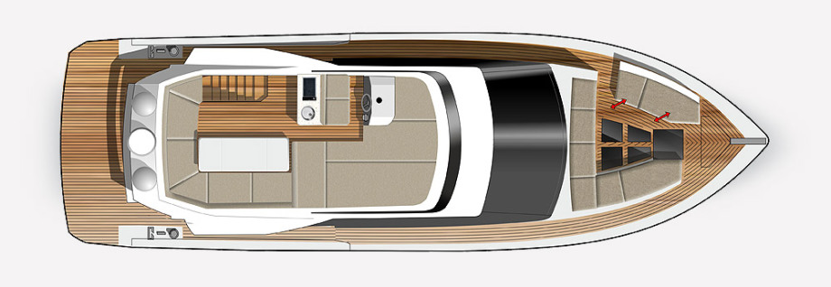 Galeon 460 FLY plan de pont fly