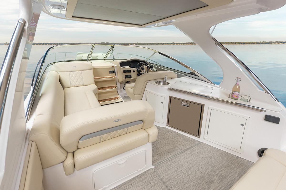 Regal 33 Express cockpit