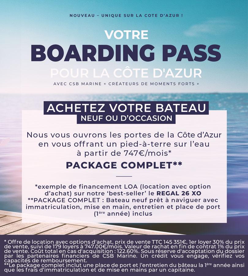 Boarding pass REGAL 26 XO