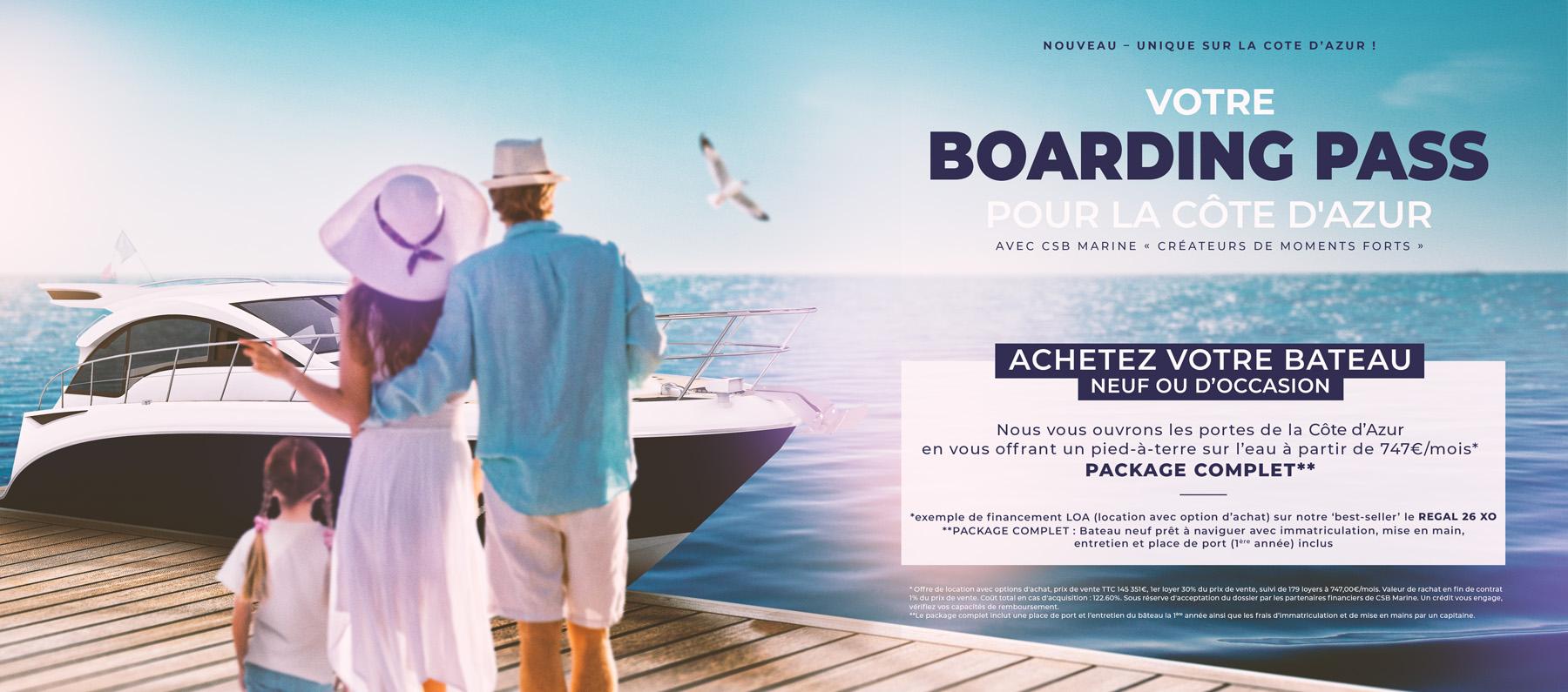Boarding Pass LOA Regal 26 XO