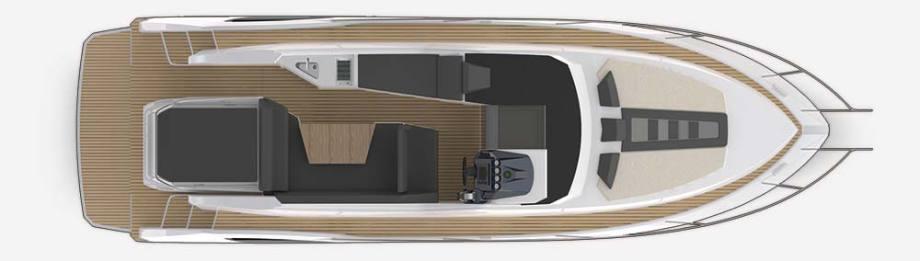 Galeon 305 HTS Plan de pont deck 1