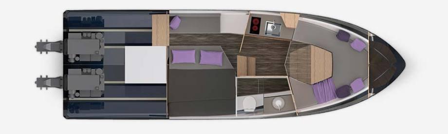 Galeon 305 HTS Plan de pont deck 2
