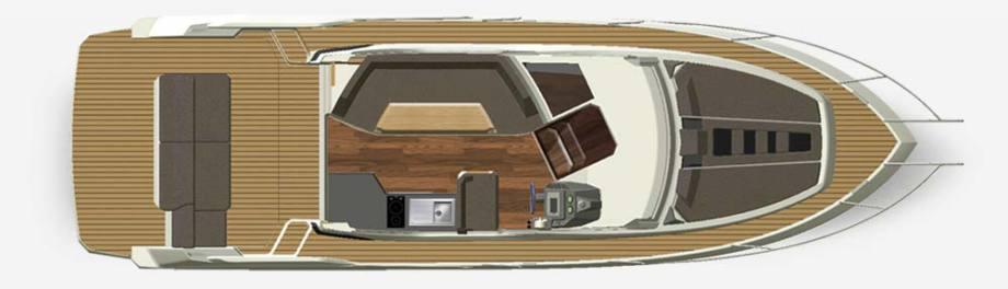 Galeon 310 HTC plan de pont deck 1