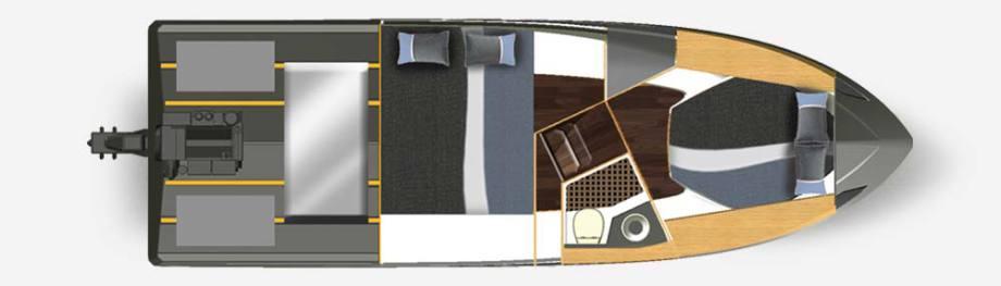 Galeon 310 HTC plan de pont deck 2