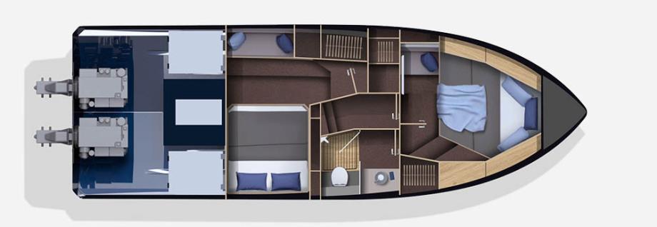 Galeon 360 FLY plan de pont deck 2 aménagement 2