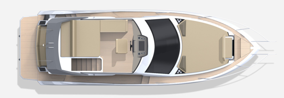 Galeon 360 FLY plan de pont fly