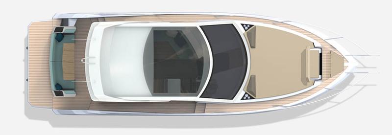 Galeon 370 HTC plan de pont hard top