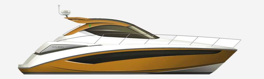 Galeon 405 HTS side view