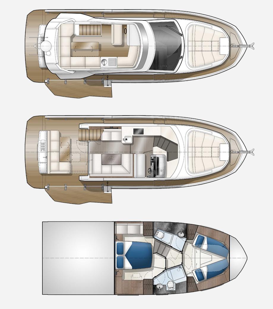 Galeon 400 FLY plan de pont