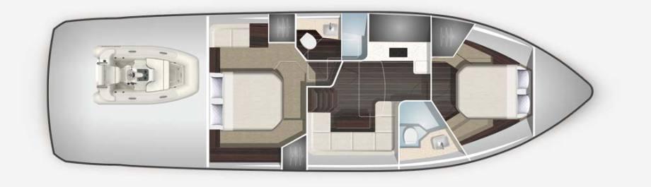 Galeon 485 HTS plan de pont deck 2