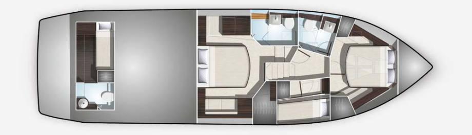 Galeon 510 SKYDECK plan de pont deck 2