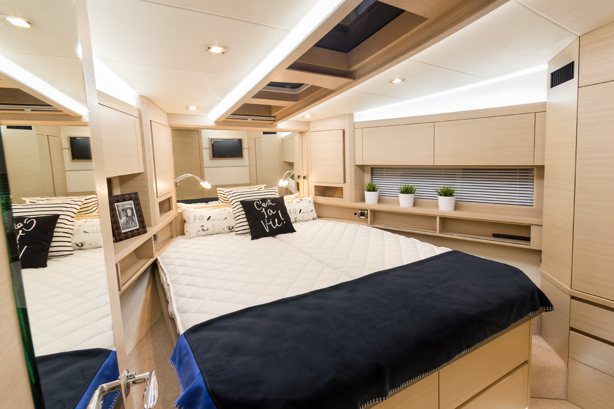Galeon 550 FLY cabine pointe