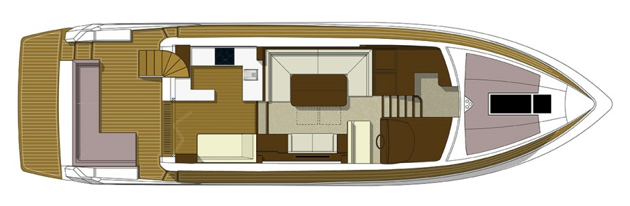 Galeon 550 FLY plan de pont deck 1