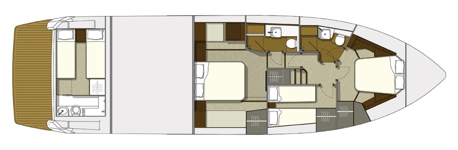 Galeon 550 FLY plan de pont deck 2