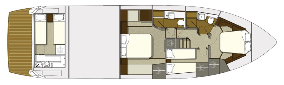 Galeon 560 SKYDECK plan de pont deck 2