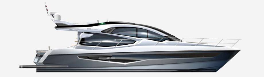 Galeon 560 SKYDECK side view