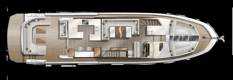 Galeon 640 FLY plan de pont deck 1