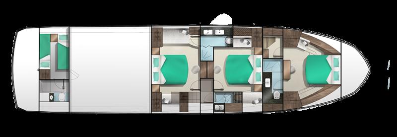 Galeon 640 FLY plan de pont deck 2 aménagements 1