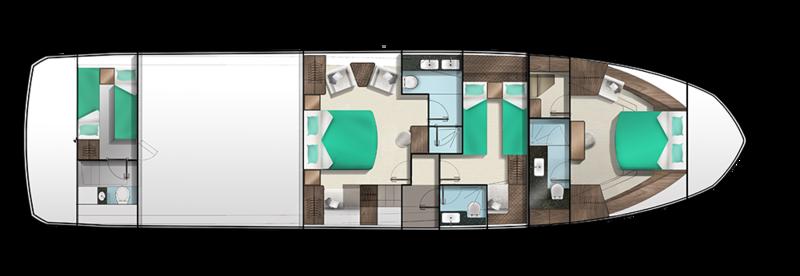 Galeon 640 FLY plan de pont deck 2 aménagements 2