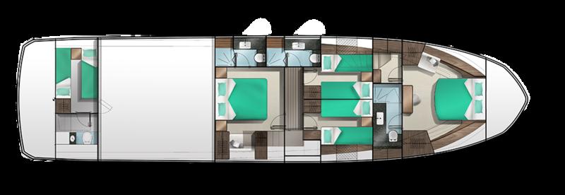 Galeon 640 FLY plan de pont deck 2 aménagements 3