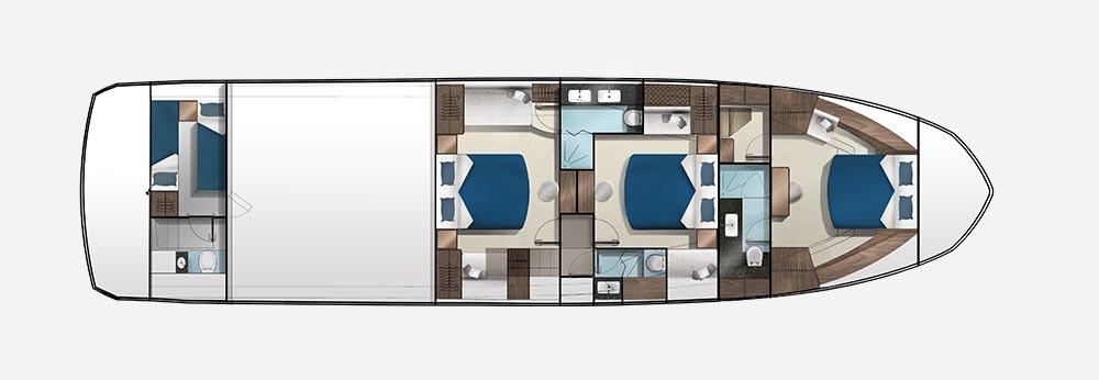Galeon 650 SKYDECK plan de pont deck 2