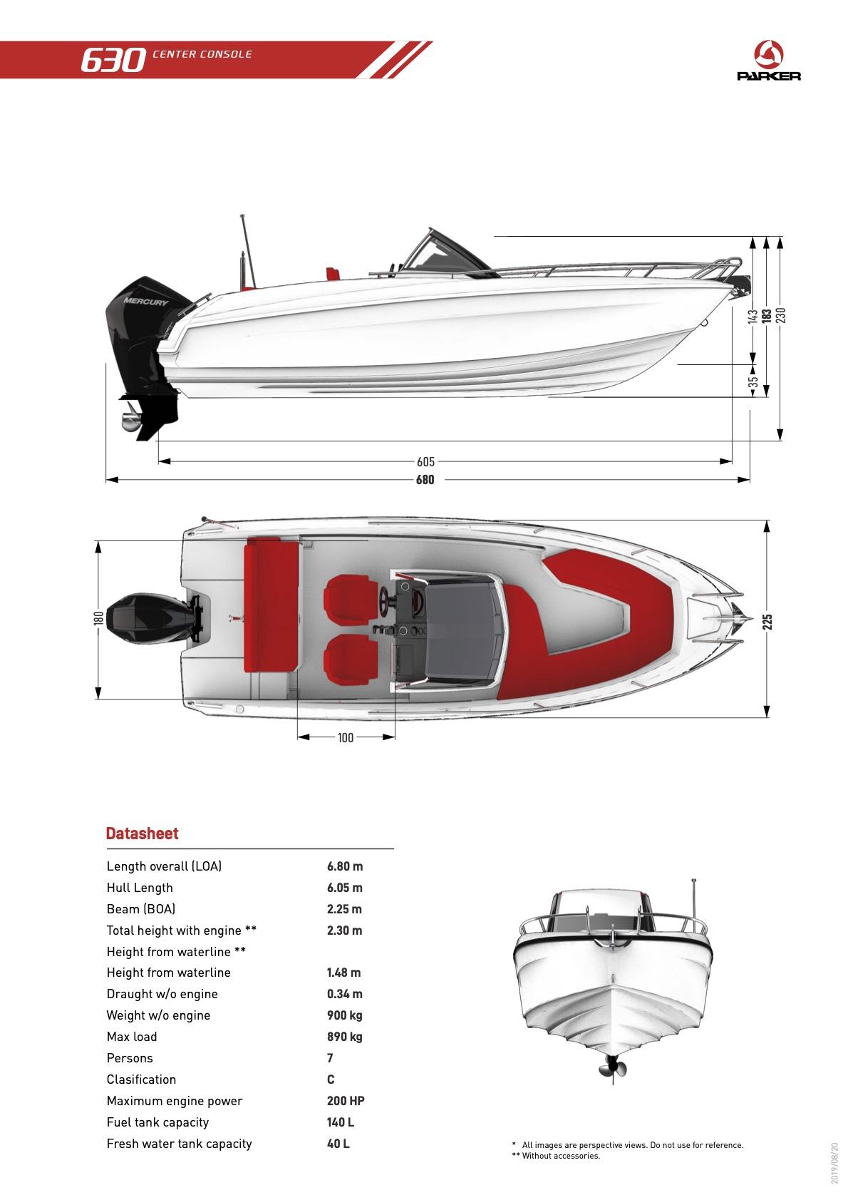 Parker 630 Sport plan de pont