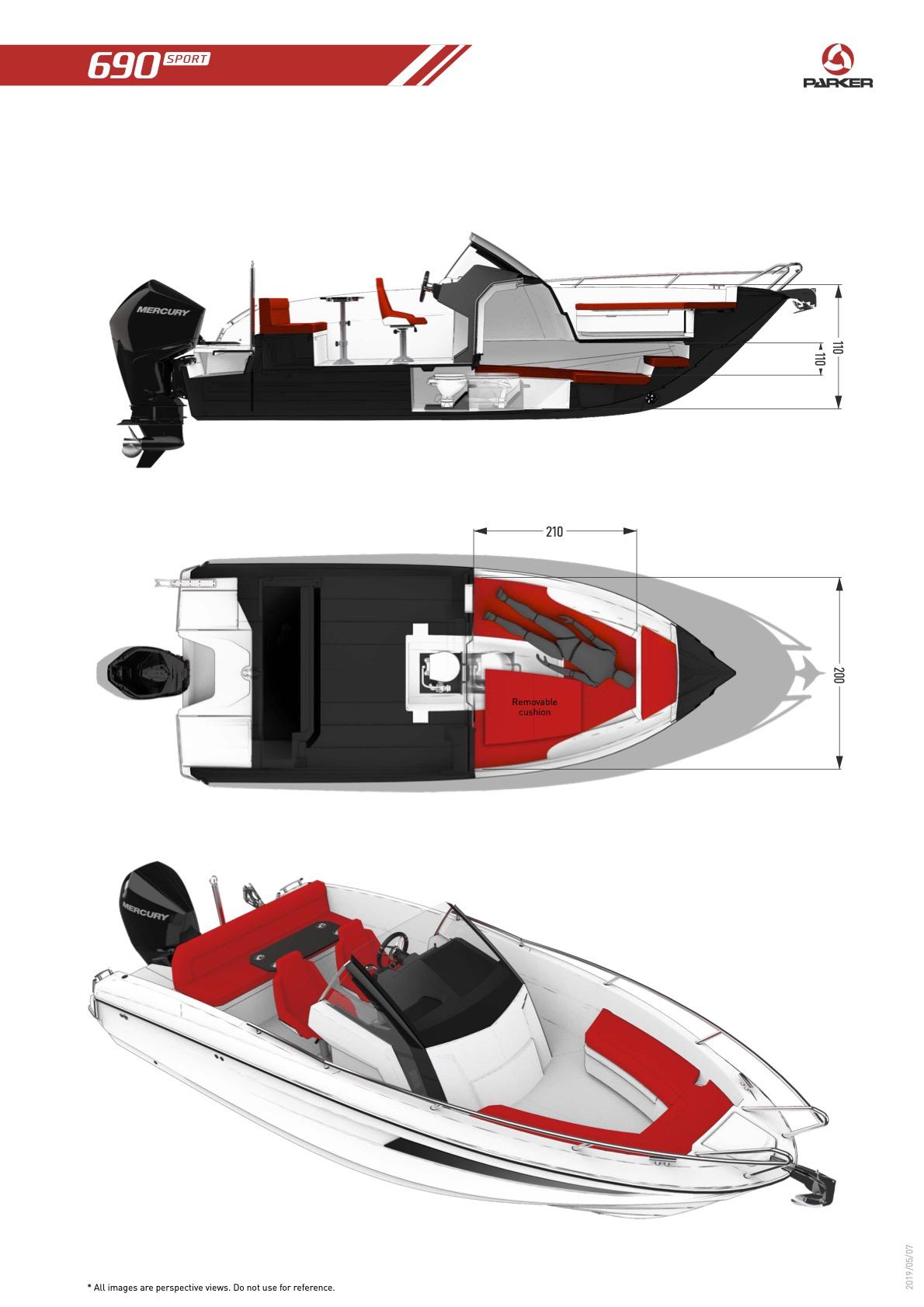 Parker 690 Sport plan de pont 2